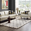 Thumbnail: 5x8 Solvea Moroccan Trellis  Shag Area Rug in Ivory and Gray