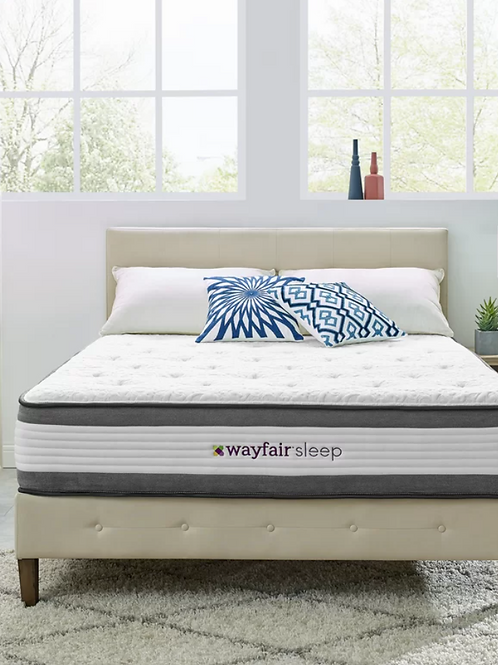 "Full- Wayfair Sleep 12"" Medium Hybrid Mattress"