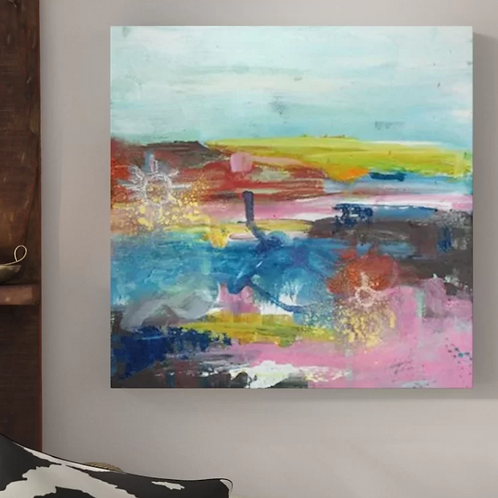 Boho Nights' Print on Wrapped Canvas