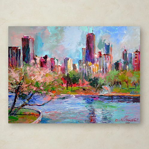 Cityscape 2' Painting Print on Wrapped Canvas