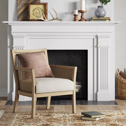 Laconia Caned Accent Chair Beige