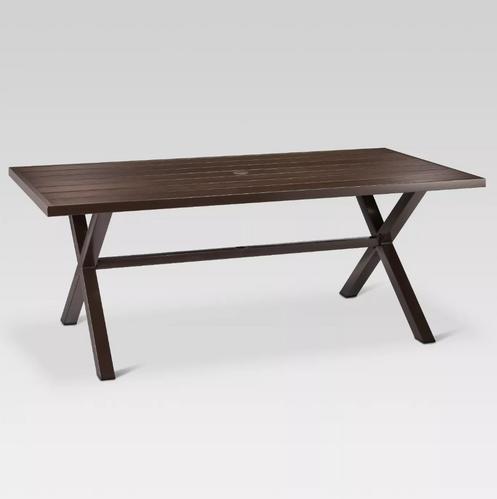Mayhew Aluminum Top Rectangle Patio Dining Table