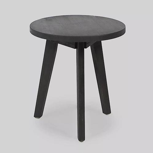Marina Acacia Wood Patio Side Table - Dark Gray