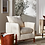 Thumbnail: Elroy Sherpa Accent Chair with Wood Legs Cream