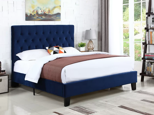 Kirtley Tufted Low Profile Upholstered Standard Bed- FULL