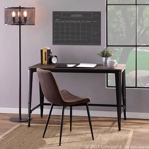 Pia Industrial Desk Black/Espresso