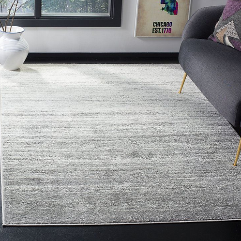 3' x 5' Mcguire Ivory/Silver Area Rug