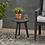 Thumbnail: Marina Acacia Wood Patio Side Table - Dark Gray