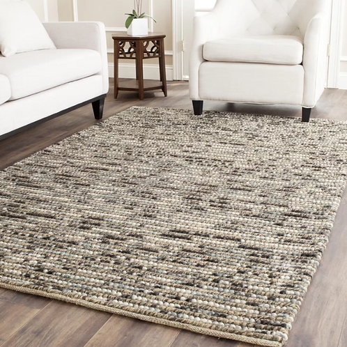 8' x 10' Stefanie Hand-Knotted Wool/Cotton Brown Area Rug