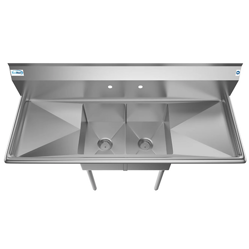 "SB121610-16B3 56"" x 22"" Freestanding Service Sink"