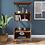 Thumbnail: Architect 4 Shelf Bookcase Modern Walnut