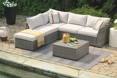 Cherry Point -Sectional, Ottoman, Table- Set(4/CN)