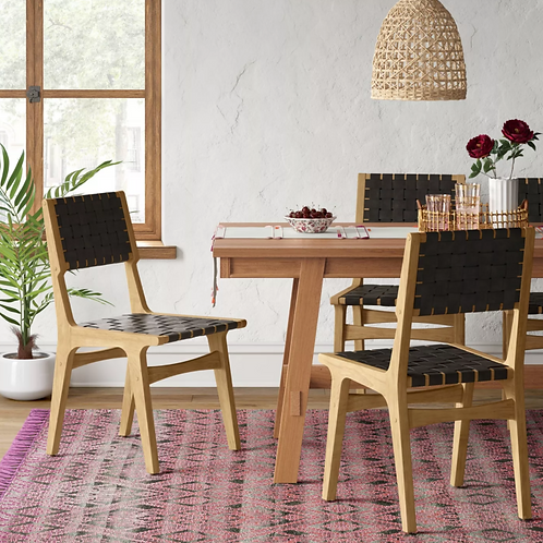 Ceylon Woven Dining Chair Black/Natural