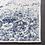 "Thumbnail: 2'3"" x 14' Macy Oriental White/Royal Blue Area Runner"