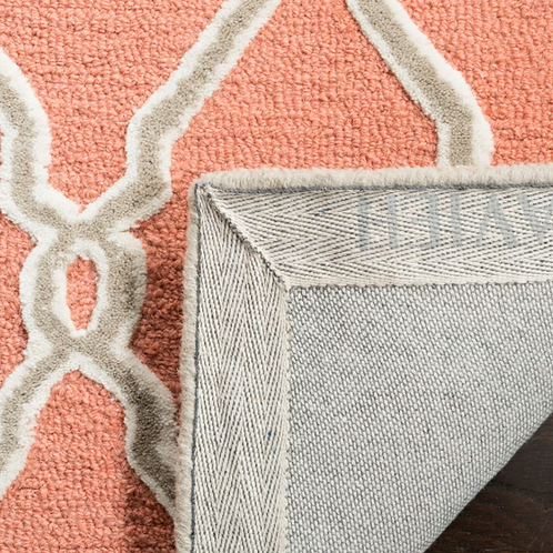 8' x 10' Wireman Hand-Tufted Wool Coral Area Rug