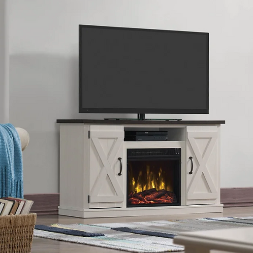 """Lorraine TV Stand for TVs up to 55"""" with Electric Fireplace Included"""