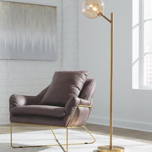 Abanson - Amber/Gold Finish - Metal Floor Lamp (1/CN)