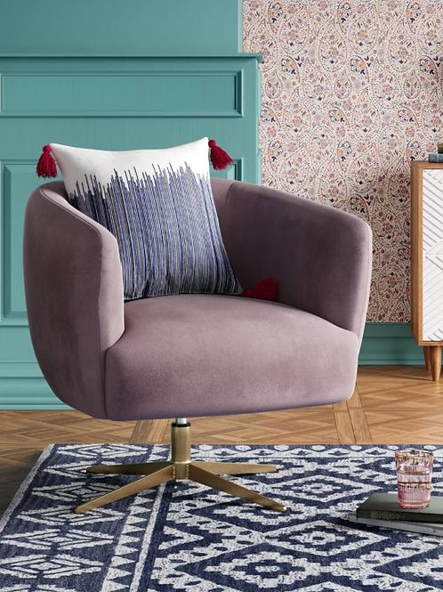 Morpho Swivel Velvet Armchair