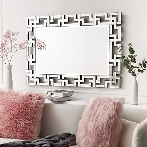 Ornate Geometric Wall Mirror