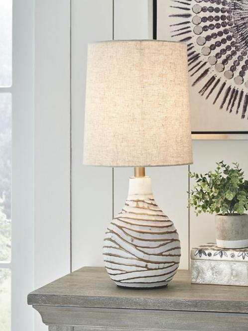 Aleela - White/Gold Finish - Metal Table Lamp (1/CN)