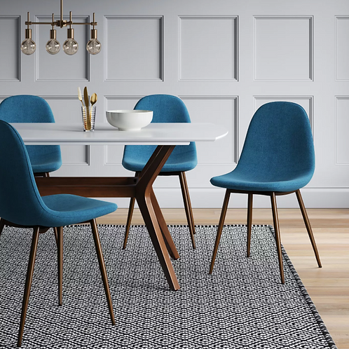 (Set of 2) Copley Upholstered Dining Chair Teal