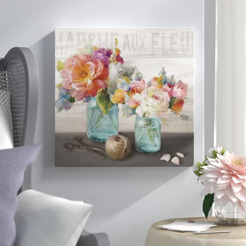 French Cottage Bouquet III - Print