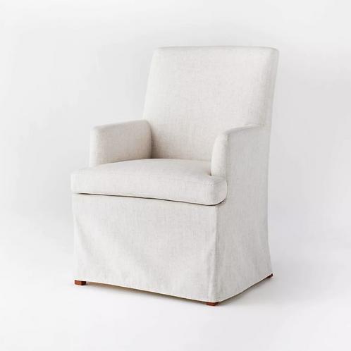 Upholstered Slipcover Dining Chair Cream