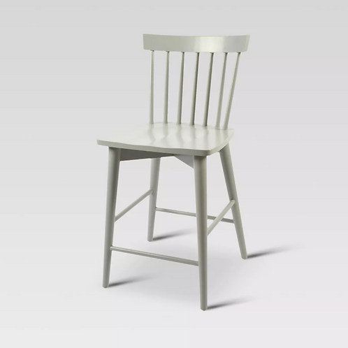Windsor Counter Height Barstool Hardwood Gray