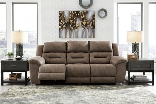Stoneland - Fossil - Reclining Sofa (Order only)