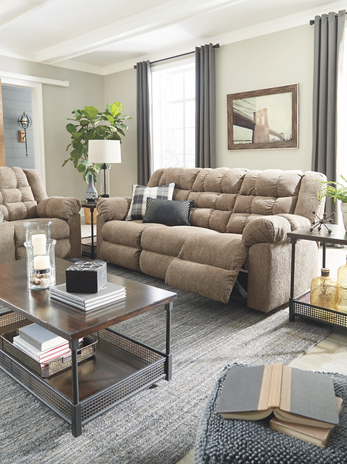 Workhorse - Cocoa - Reclining Sofa (order only)