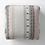 Thumbnail: Decorative Ticking Stripe Outdoor Floor Cushion Black/Orange