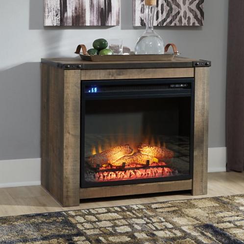 Trinell - Brown - Fireplace Mantel w/FRPL Insert