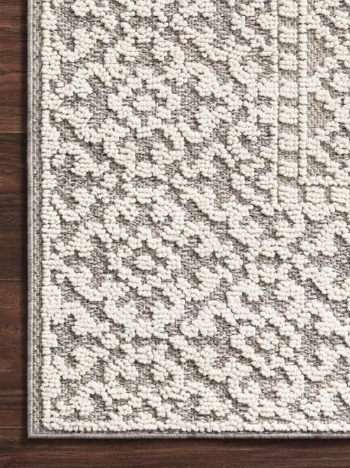 Mineola Geometric Ivory/Gray Indoor/Outdoor Area Rug