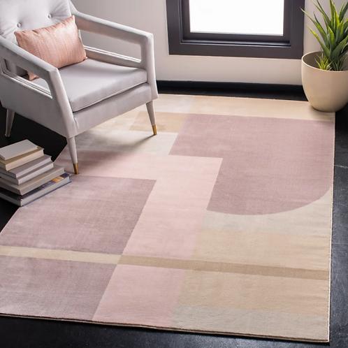 4' x 6' Bohdalice Geometric Pink/Light Purple Area Rug