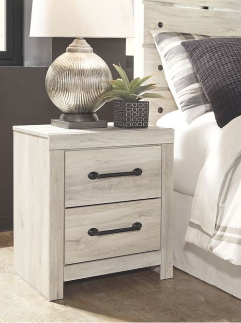 Cambeck - Whitewash - Two Drawer Night Stand (For Order)
