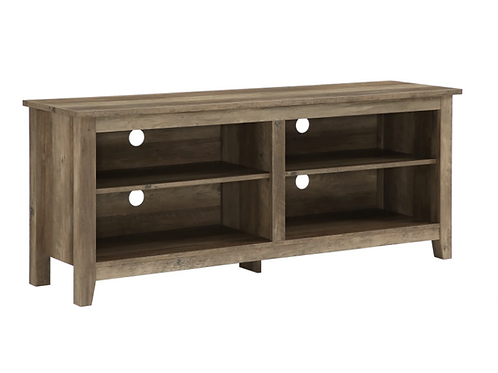 "Walker Edison 58"" Wood TV Media Stand Storage Console - Rustic Oak"
