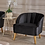 Thumbnail: Amaia Modern New Velvet Club Chair Black - Christopher Knight Home