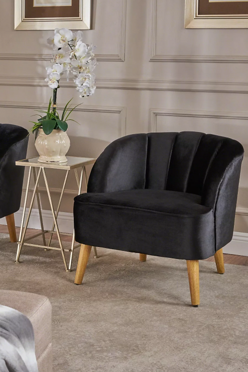 Amaia Modern New Velvet Club Chair Black - Christopher Knight Home