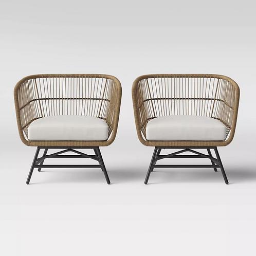 Martii 2pk Patio Club Chair - Natural