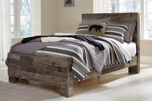 Derekson - Multi Gray - Full Panel Bed