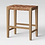 Thumbnail: Ceylon Woven Backless Counter Height Barstool Brown/Natural