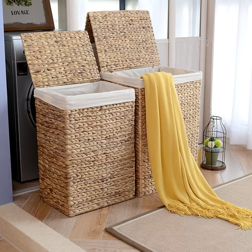 2pc Wicker Laundry Set
