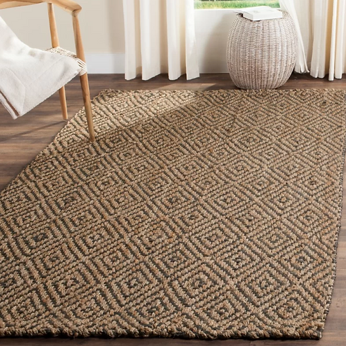 10' x 14' Grassmere Hand-Woven Natural/Grey Area Rug