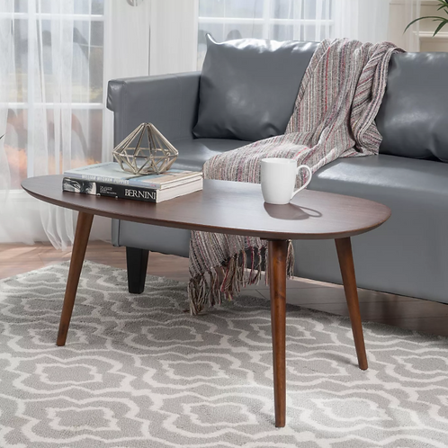 Elam Wood Coffee Table - Walnut
