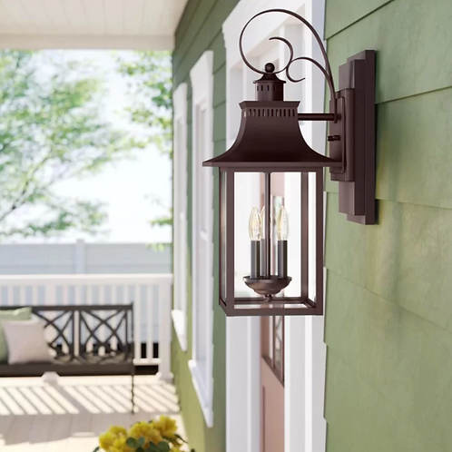 Caswell 3-Light Outdoor Wall Lantern