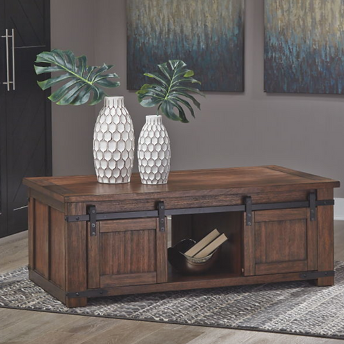 Budmore - Brown - Rectangular Cocktail Table