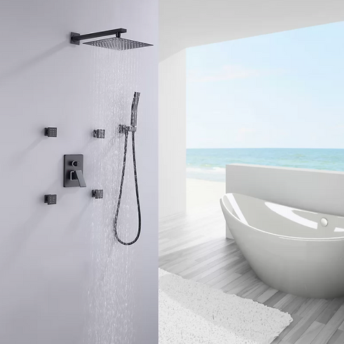 Luxurious Pressure Balanced Complete Shower System with Rough-in Valve