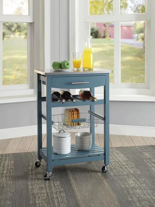 Clarke Kitchen Cart Blue