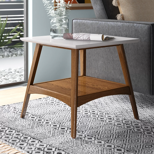 Burnes End Table with storage