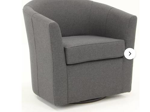 "Molinari 31"" Wide Swivel Barrel Chair"